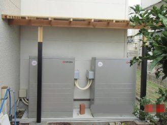 大容量蓄電池と手作り日よけ屋根/沼津市S様
