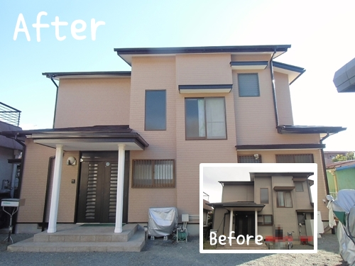 屋根外壁塗装と電気自動車充電器搭載V2H設置/函南町S様