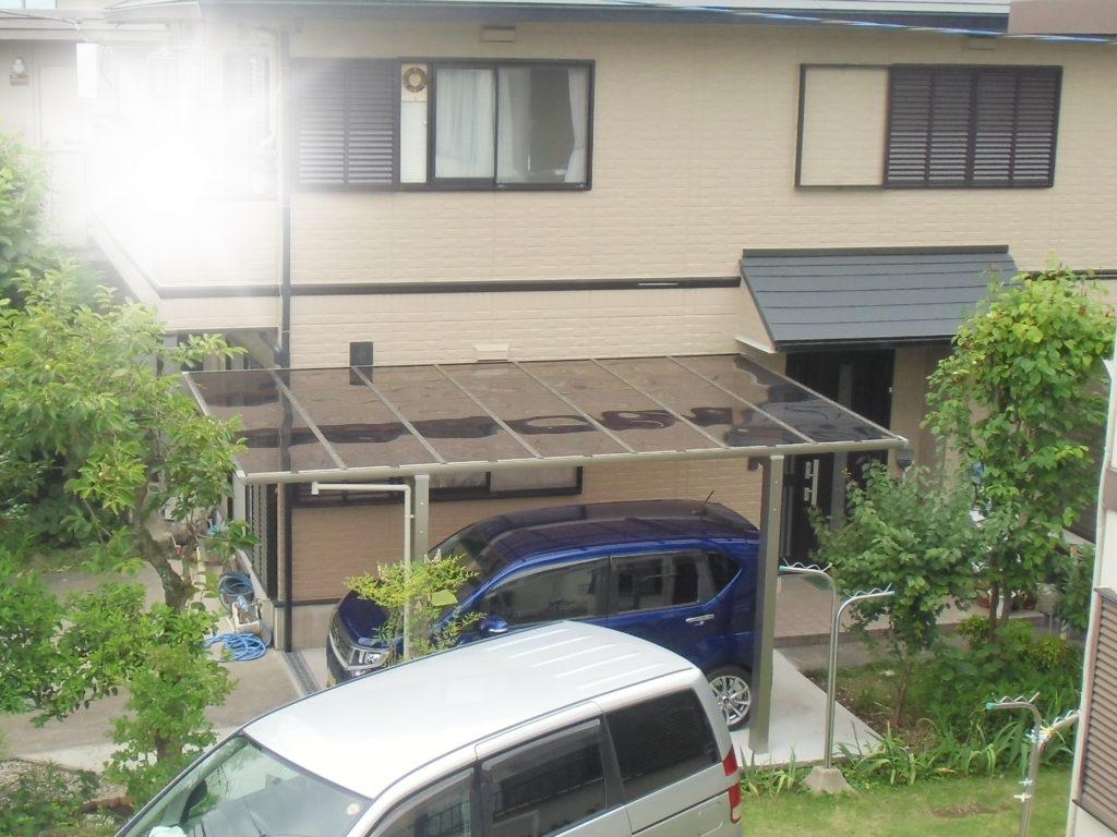お庭の空きスペースを駐車場に有効利用/函南町U様