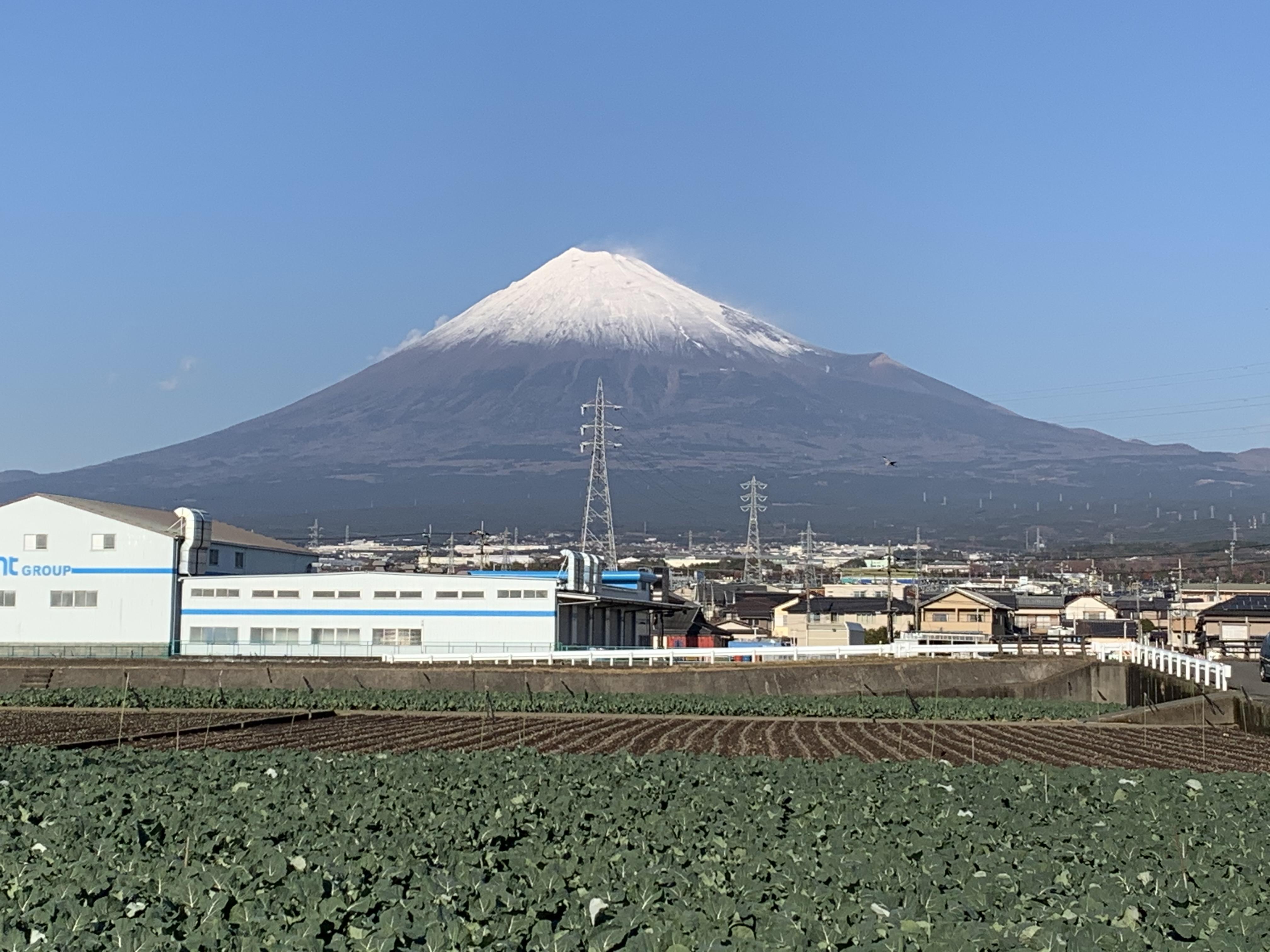 12月30日 富士山に雪が♪